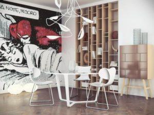 Dining room Pop ART style