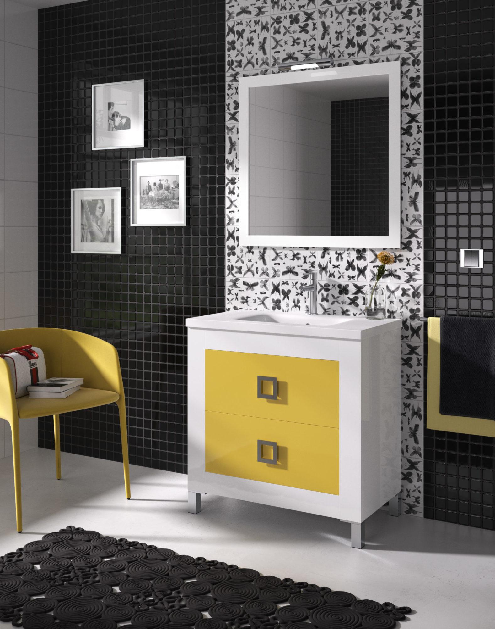 Diseño 3D decoración baño