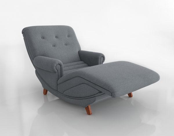 Chaise Longue 3D R&H Modern