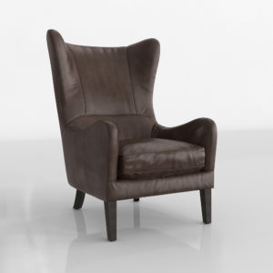 Garbo Leather Wingback Chair Crate and Barrel