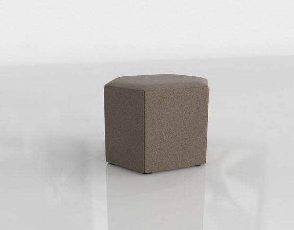 Otomana 3D BluDot Hecks Gris