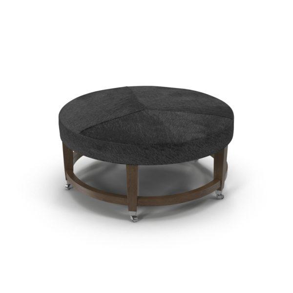 Cool Ainsley Round Leather Cocktail Ottoman Crate And Barrel Creativecarmelina Interior Chair Design Creativecarmelinacom