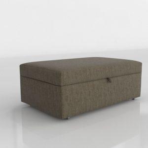 Otomana 3D C&B Lounge II de Tela con Arcón