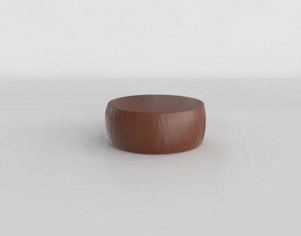 Otomana 3D R&B Lind Circular en Cuero