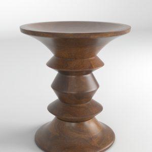 Taburete 3D Eames Walnut de Madera