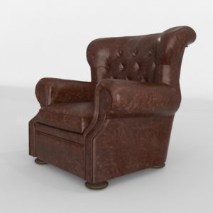 Churchill Leather Chair Restoration Hardware