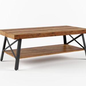 Mesa de Café 3D Overstock Rustic