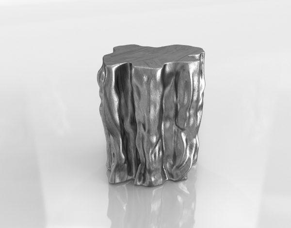 Mesa Auxiliar 3D R&H Tronco Plateado