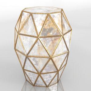 Zora Hexagon Table Gold Horchow
