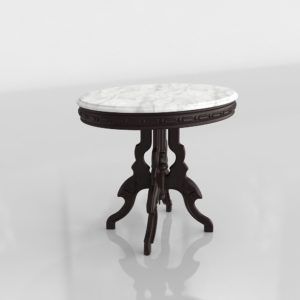 Mesa Auxiliar 3D Vintage Mármol