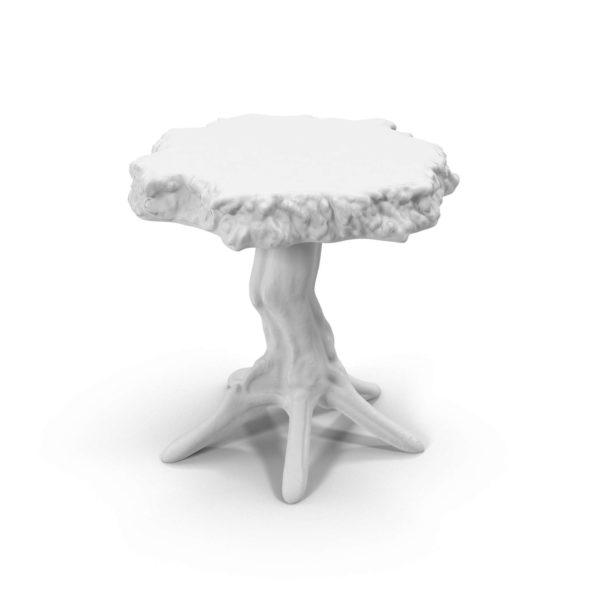 Mesa Auxiliar 3D Árbol Vintage Blanco