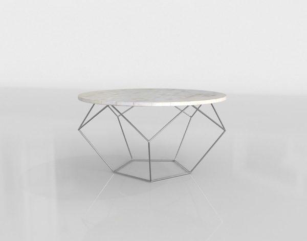 Mesa de Café 3D West Elm Origami