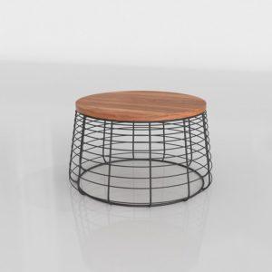 Mesa de Café 3D CB2 Round Wire