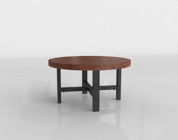 Mesa de Café 3D Pottery Barn Griffin