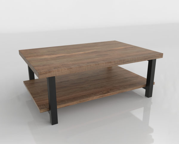 Mesa de Café 3D Wayfair Somers