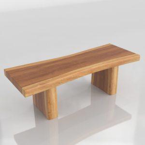 Mesa de Café 3D West Elm Wooden