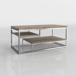 Mesa de Café 3D Wayfair Plateada