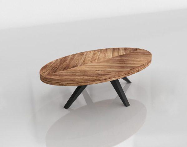 Mesa de Café 3D Sleek Modern