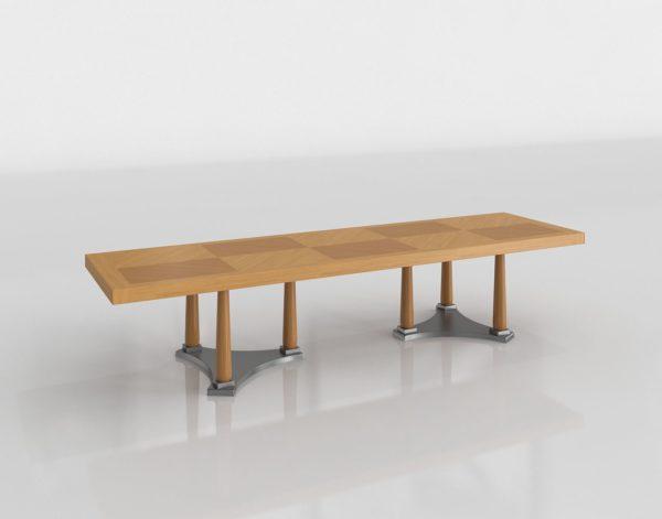 Mesa de Café 3D de Madera Larga