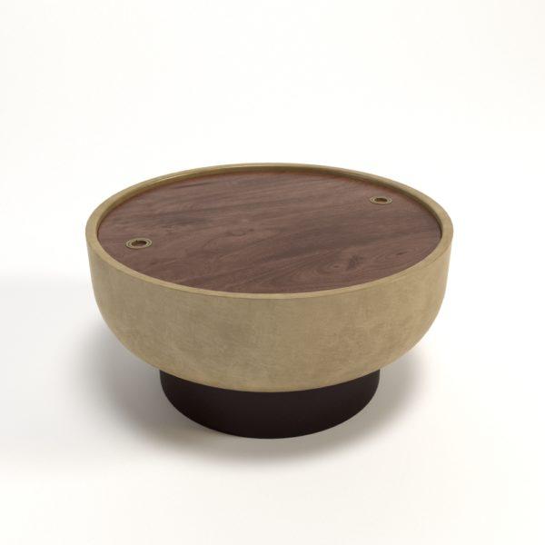 Mesa de Café 3D West Elm Drum