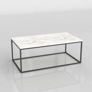 Mesa de Café 3D Cuadrada de Mármol