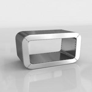 Mesa de Café 3D Living Spaces Chromium