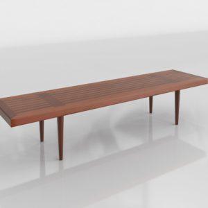 Mesa de Café 3D Mid Century Moderna