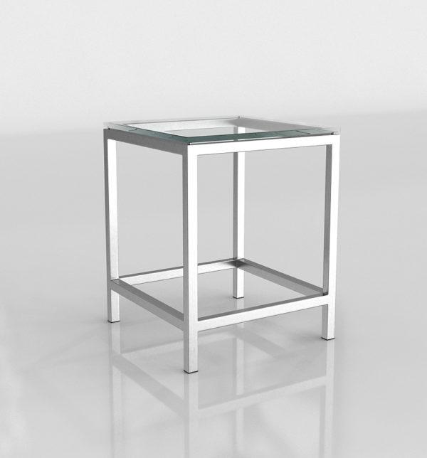 Mesa Auxiliar 3D C&B Era Cristal Cuadrada