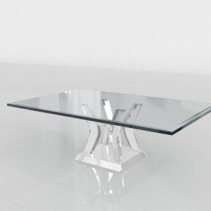 Mesa de Café 3D Lounge Cristal