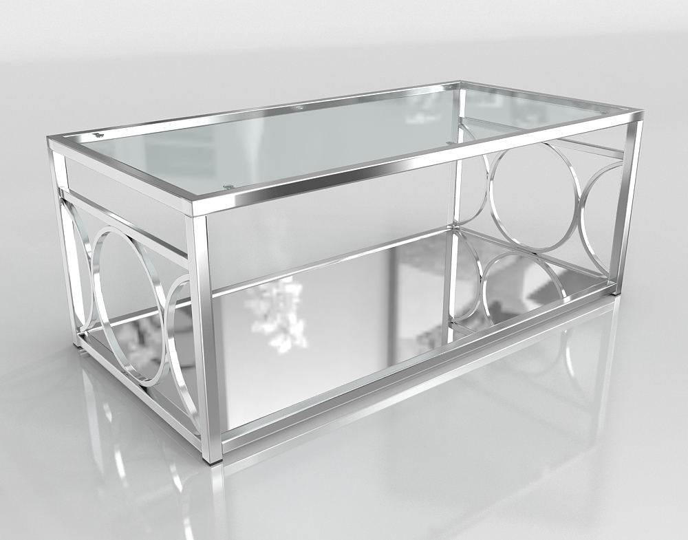 3d Mishie Contemporary Glass Top Coffee Table Overstock