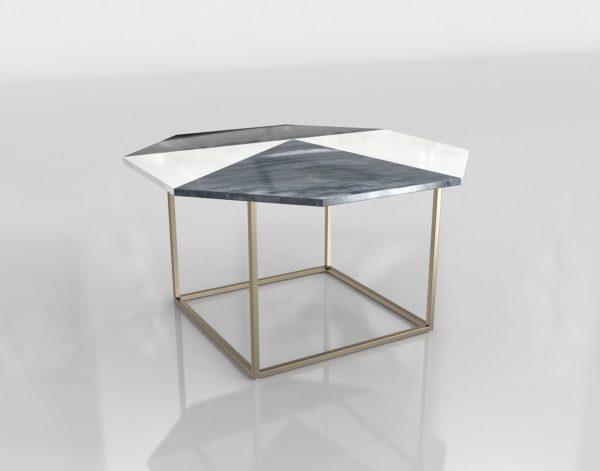 Mesa Auxiliar 3D All Modern Marquetry