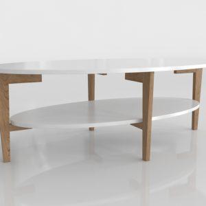 Mesa de Café 3D All Modern Basque
