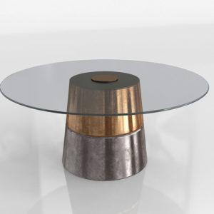 Mesa de Café 3D West Elm Steel Wash