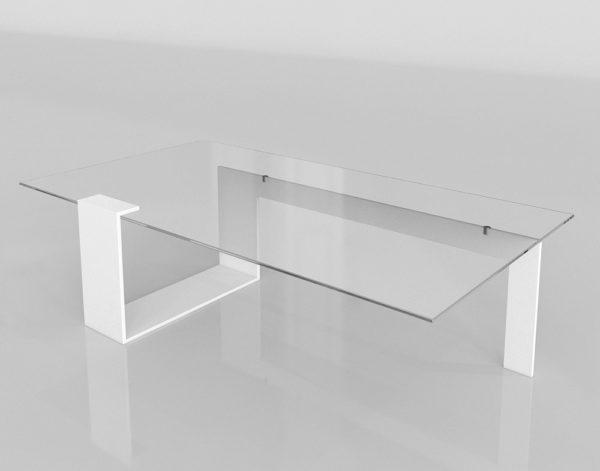 Mesa de Café 3D Vanguardista Cristal