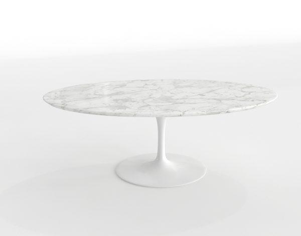 Mesa de Café 3D Saarinen Óvalo