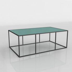 Mesa de Café 3D Rectangular Turquesa