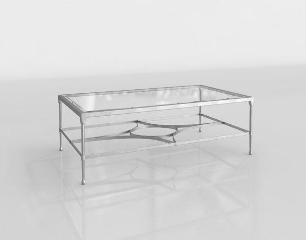Mesa de Cocktail 3D Bernhardt Cordelia Cristal