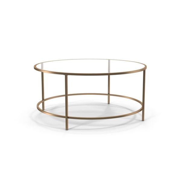 Mesa de Café 3D Sauder Lux de Cristal