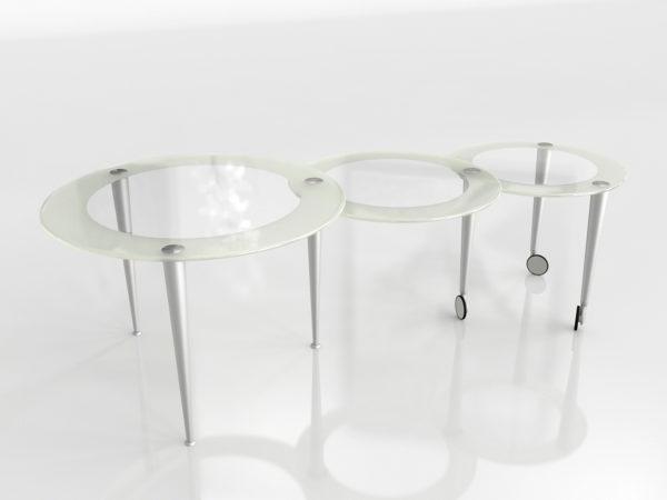 Mesa de Café 3D MGBW Rounds