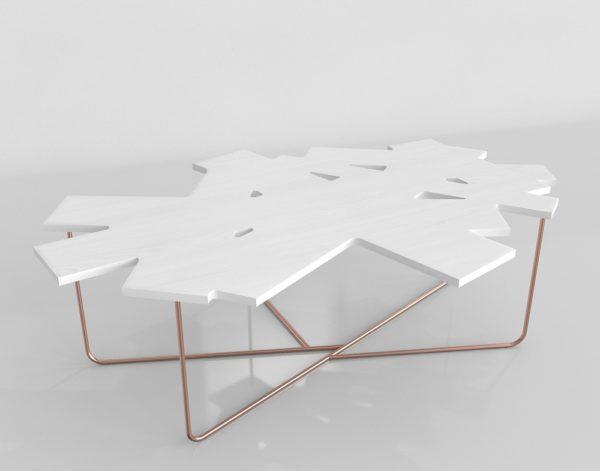 Mesa de Café 3D YLiving Confetti