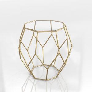 Mesa Auxiliar 3D World Market Gold Faceted