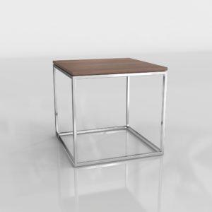 Mesa Auxiliar 3D C&B Cubo Plateado