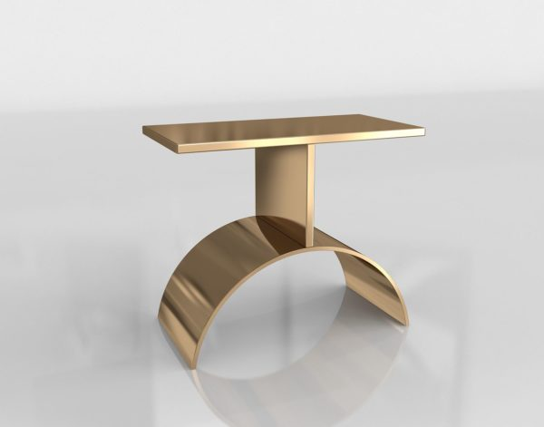 Mesa Auxiliar 3D CB2 Curve Gold