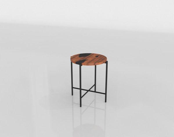 Mesa de Café 3D West Elm Resina de Madera