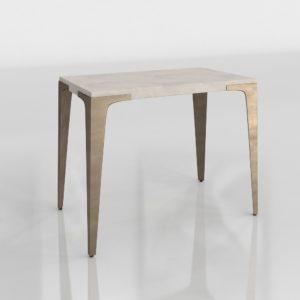 Mesa de Café 3D West Elm Concrete
