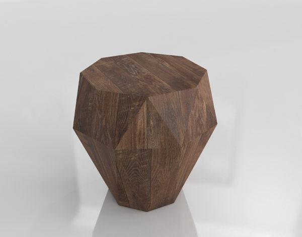 Mesa Auxiliar 3D West Elm Prisma de Madera