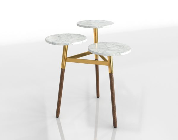 Mesa Escalonada 3D R&F Marble & Gold