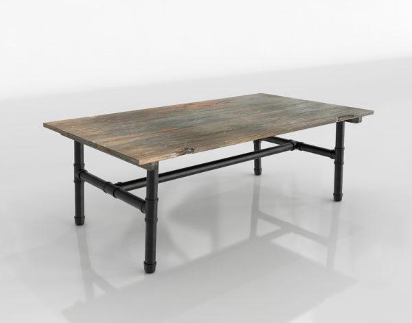 Mesa de Café 3D R&H Iron & Wood