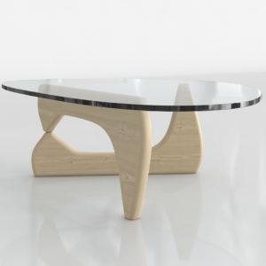 Mesa de Café 3D P&B Isamu Noguchi Beige