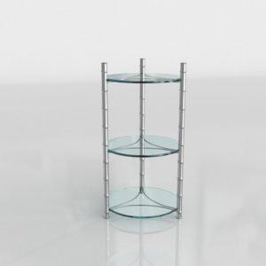 Mesa Auxiliar 3D Vintage Cristal
